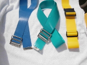 Sample Pack of 3 gait belts - (1)Antimicrobial, (1) 22 ounce and (1) Gaitorbelt with a clip